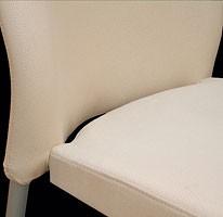 Marostica cod. 11/I, Silla apilable de metal, tapizado, para el uso del contrato