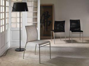 Art. 039 Matrix, Silla de metal con asiento de PVC neta y el respaldo, apilable