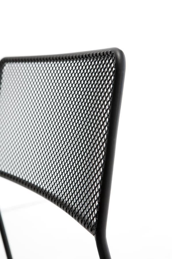 Log mesh, Silla de metal, apilable y fácil de transportar, conveniente para el uso al aire libre