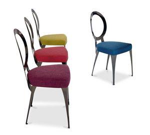 Miss silla, Silla con estructura de hierro, asiento tapizado en caucho