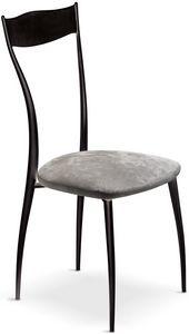 Vilma New silla, Silla de metal con asiento acolchado