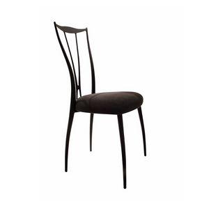 Vilma silla, Silla con estructura de hierro, asiento tapizado en caucho