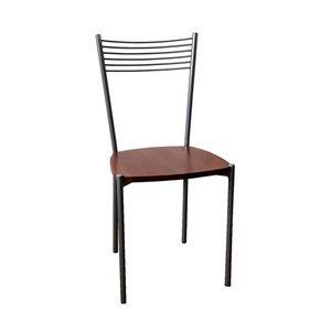 Ziva, Silla con estructura de metal, asiento de madera contrachapada