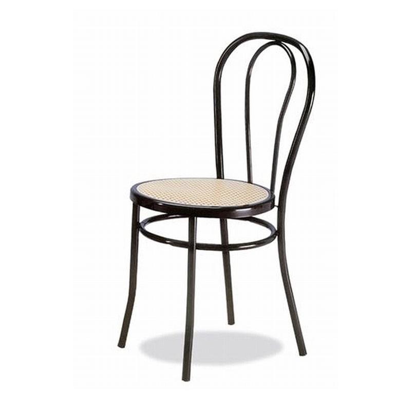 002, Silla en metal curvado, sentado en la paja de Viena