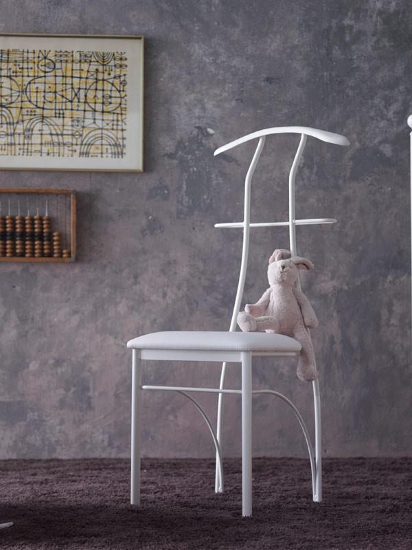Galileo, Silla Hanger, hierro pintado, sentado en piel sintética