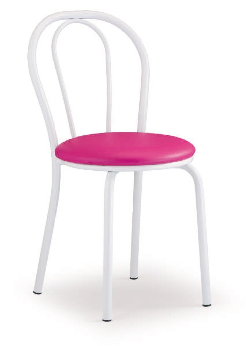 SE 025, Silla de metal básico, asiento tapizado, para aperitivos