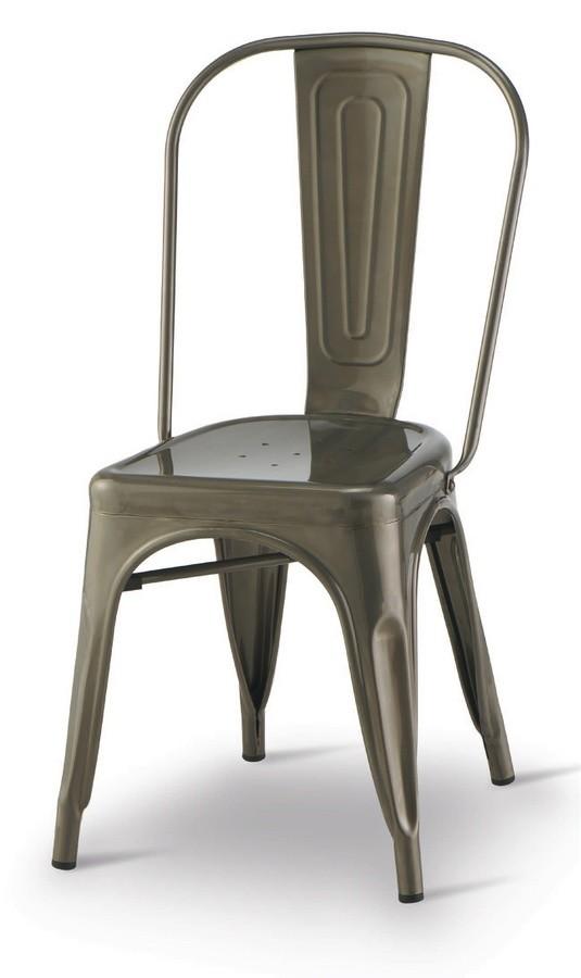 SE 500 / INT, Silla de metal pintado, apilable, para los restaurantes