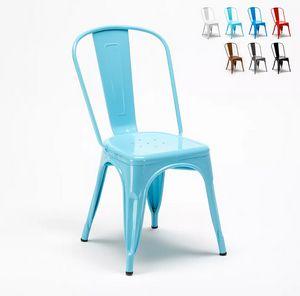 Tolix sillas industriales metal acero para cocinas y bares Steel One SM9008ST, Silla de estilo industrial