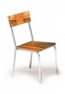 Sorrento/s, Silla para exteriores, madera de iroko y acero, apilable
