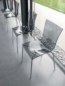 ARIA EASY, Silla de metal con diseño minimalista