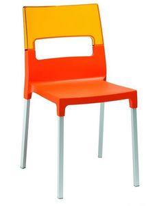 Diva chair, Silla hecha de policarbonato transparente, multicolor