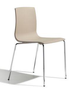 SE 2675.INT, Silla apilable con estructura de metal y cuerpo de plástico adecuado para bares y cocinas