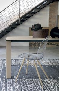MARBELLA SE517, Silla con concha de policarbonato transparente