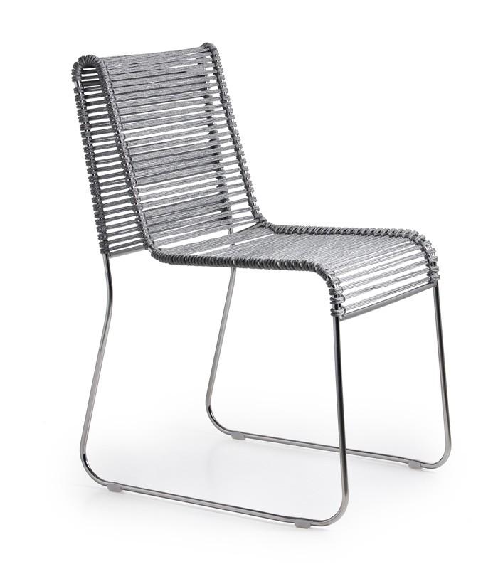 In/Out, Silla de metal, asiento en cuerda tejida, para interiores y exteriores
