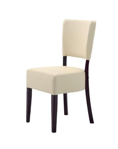 301, Silla minimalista en madera, acolchado, para los restaurantes