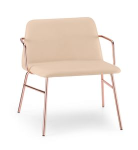 ART. 0035-MET-TU-CB BARDOT, Chaise longue tapizada con brazos