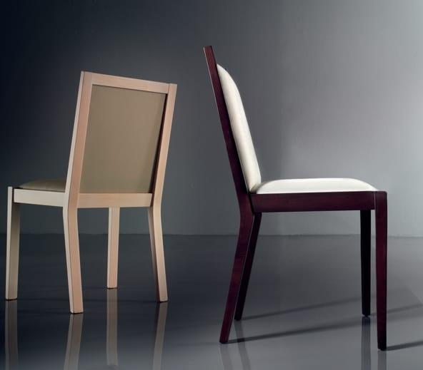 ART. 191 LUNA, Cómoda silla acolchada, en madera de haya
