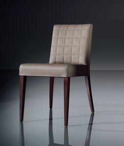 ART. 221 FLORANCE, Silla suave para la moderna sala de estar, en piel