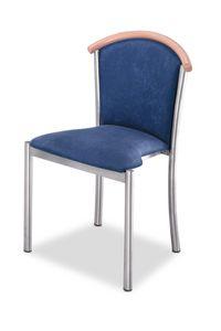 Art.Dolly, Silla con estructura de acero cromado, asiento y respaldo tapizados, revestimiento de tela, por contrato y uso doméstico