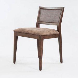 BS547S - Silla, Silla de madera con asiento acolchado.