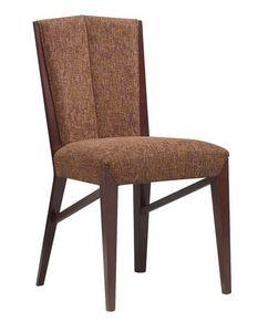 C30, Silla de madera, asiento acolchado y la espalda, por contrato y uso doméstico