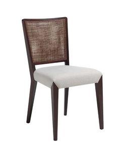 C38, Silla de madera, tapizados y cubiertas de asiento de tela, respaldo de malla, para entornos domésticos contrato y