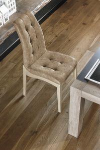 GRENOBLE SE180, Silla en madera barnizada y tapizada