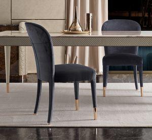 Karen silla, Silla elegante tapizada en terciopelo.