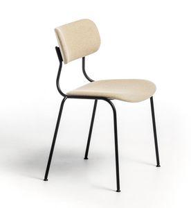 Kiyumi Fabric, Silla apilable con asiento acolchado