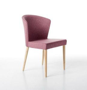 Kontè 4 patas, Elegante silla acolchada con espuma de poliuretano
