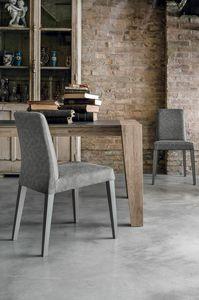LUCERNA SE514, Silla moderna de madera maciza con concha en tacto suave