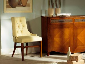 MELODY chair 8198S, Silla completamente tapizada sin apoyabrazos, acolchado