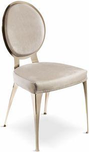 Miss silla con respaldo acolchado, Silla contemporánea con respaldo redondo acolchado