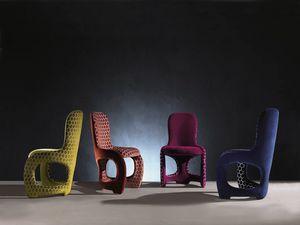 SE48 Venere silla, Silla cómoda con líneas curvas, totalmente acolchado