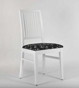 320, Silla lacada con asiento tapizado