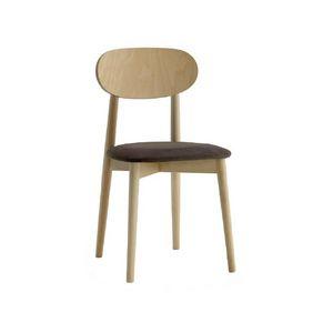 371, Silla de madera, asiento acolchado