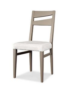 Art. 195/S, Silla de comedor moderna, con asiento tapizado.