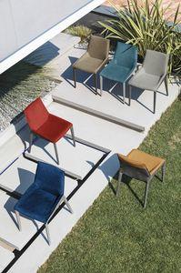 HOUSTON SE621, Silla con tapizado bicolor