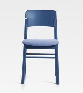 Pop, Silla de madera con asiento acolchado