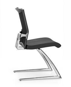 AVIANET 3630, La silla del visitante en metal cromado, asiento acolchado