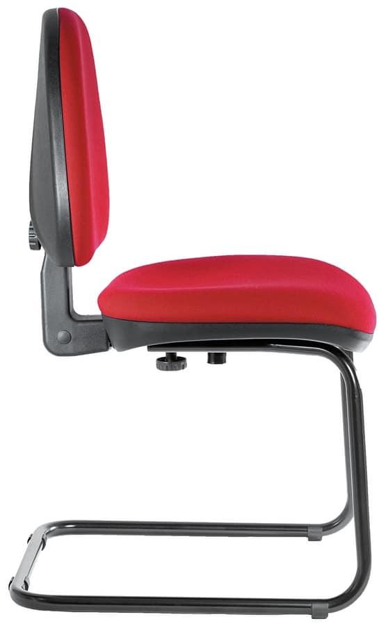 Silla rellena para oficina, sin ruedas | IDFdesign
