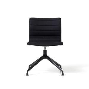 Miss base pir�mide, Silla tapizada con asiento giratorio, marco de aluminio