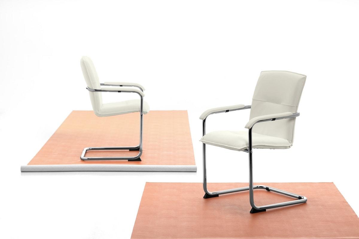 Silla 01, Silla con base cantilever para oficina