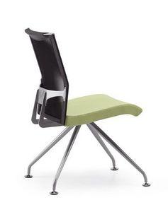 AVIANET 3645, Silla de oficina con respaldo de malla y asiento tapizado