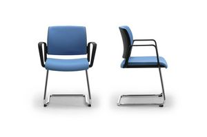 Wiki relax, Silla de oficina de invitados con asiento y respaldo tapizados malla