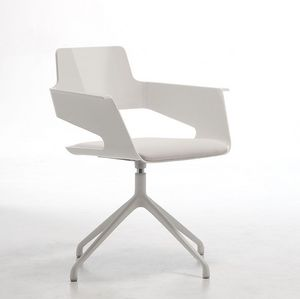 B32 SP, Silla giratoria, diseño moderno, cáscara de nylon brillante