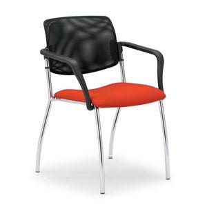 Laila 0583L, Silla con respaldo de malla, para salas de reuniones y oficinas