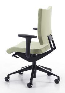 AVIAMID 3406, Silla de trabajo con brazos, asiento deslizante