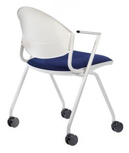 NESTING DELFI 089 R, Silla tapizada con ruedas para salas de conferencias y oficinas