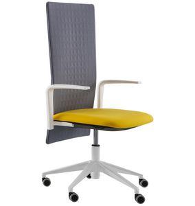Elodie Executive 05R, Silla de oficina con ruedas y respaldo insonorizante